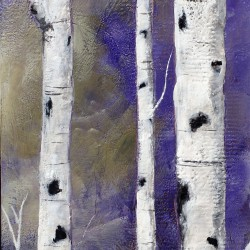 Ashleigh Dawn Wiebe - Birch by the Moon - 24x48