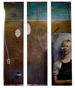 Kevin Friedrich - But the Mural was Fantastic - 72x96 - 2006