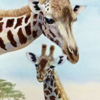 Jennifer Labella - Giraffe and Baby