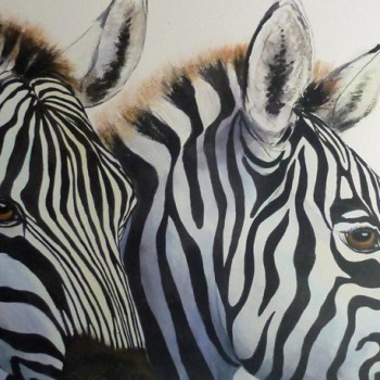 Jennifer Labella - Two Zebras Up Close