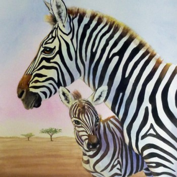 Jennifer Labella - Zebra and Foal