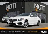 2016 Mercedes-Benz C300 4Matic For Sale In Winnipeg   Premium, White on Red, Sport PKG, AMG Style PKG, Nav, Pano Roof