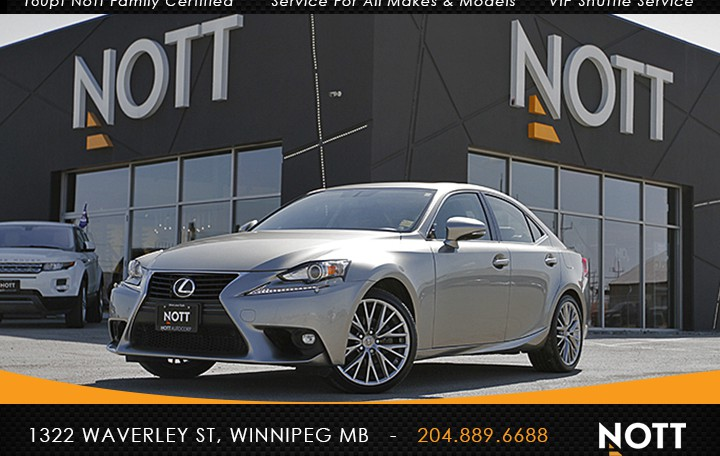 2015 Lexus IS250 For Sale In Winnipeg | One Owner, Heated/Cooled Seats, Moonroof, Backup Camera, AWD