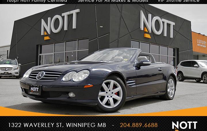 2003 Mercedes-Benz SL500 For Sale In Winnipeg| Navigation, Heated Seats, Power Hard-top