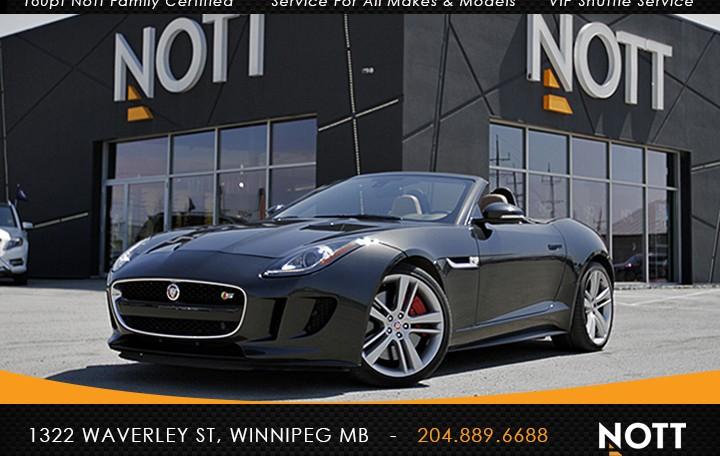 2015 Jaguar F-Type 5.0L V8 S For Sale In Winnipeg | Convertible, Navigation, 495 HP