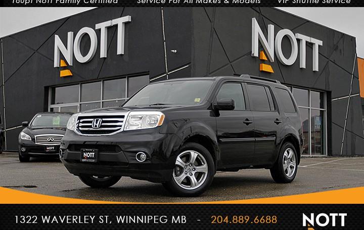 2015 Honda Pilot For Sale In Winnipeg | EX-L w/RES, 1 Owner, DVD, 8-Passenger, AWD