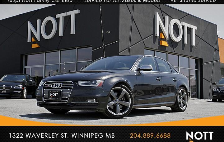 2014 Audi S4 3.0 Technik For Sale In Winnipeg | Quattro, Supercharged, 7-Speed S-Tronic Dual Clutch Transmission, Nav, Backup Camera, Sunroof, 333 HP