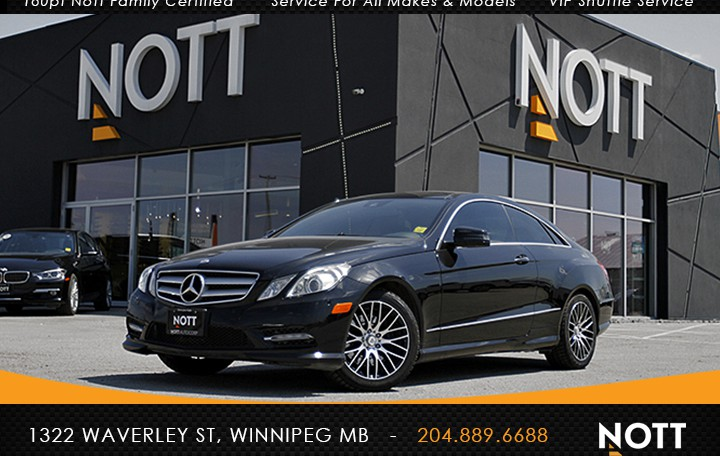 2012 Mercedes-Benz E 350 4MATIC For Sale In Winnipeg | Navigation, Backup Cam, Pano Roof, Coupe