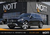 2017 Mercedes-Benz GLC300 4Matic For Sale In Winnipeg | Premium 1 & 2 PKG, Navigation, 360 Camera, Panoramic Roof