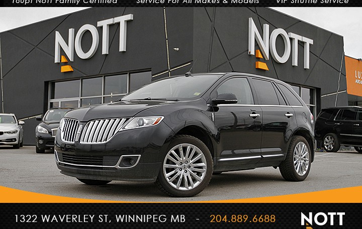 2014 Lincoln MKX For Sale In Winnipeg | Navigation, Backup Cam, Heated/Cooled Leather, AWD
