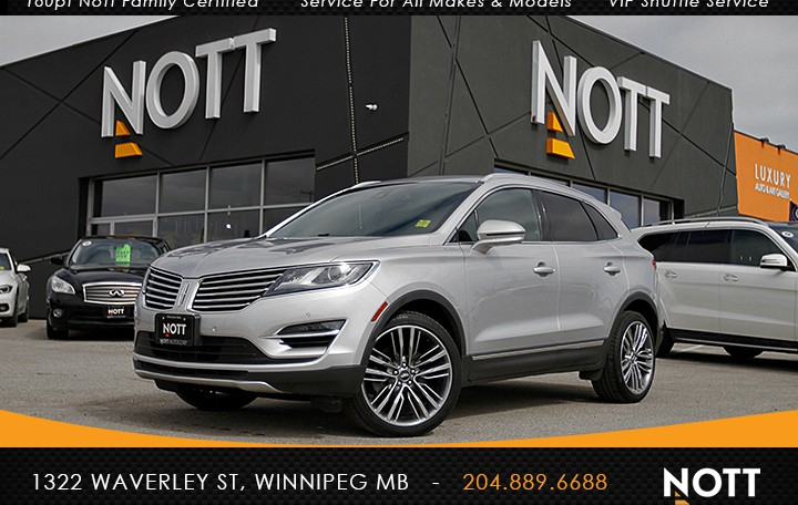 2015 Lincoln MKC Reserve For Sale In Winnipeg | AWD, 2.3L, Navigation, Moon Roof