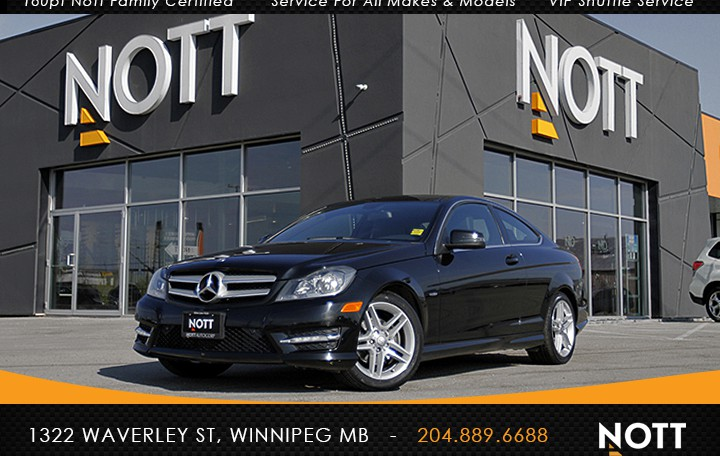 2012 Mercedes-Benz C250 For Sale In Winnipeg | Navigation, Panoramic Roof, Heated Leather, Coupe